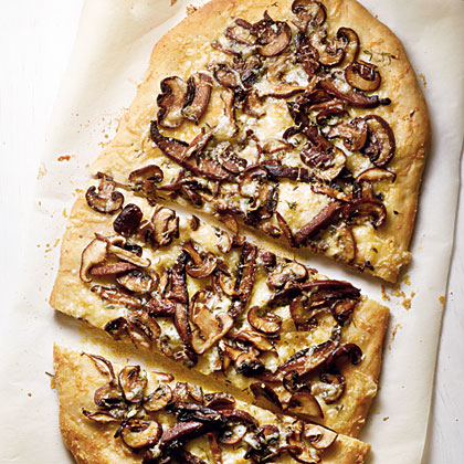 Wild Mushroom Pizza with Truffle Oil