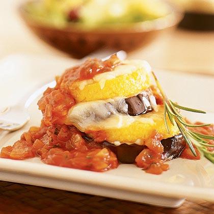 Eggplant Parmesan Stacks Recipe