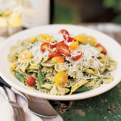 Farfalle with Arugula Pesto