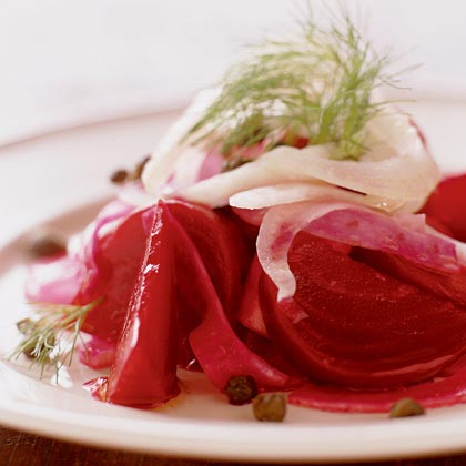 Beet and Fennel Salad with Fried Capers Recipe