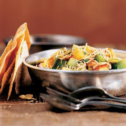Papaya-Kiwi Chaat with Pistachios Recipe