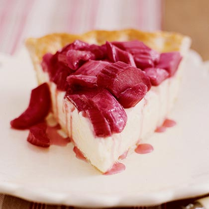 Rhubarb-Lemon Cream PieRecipe