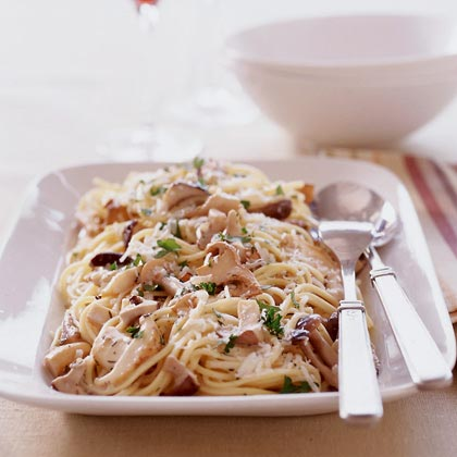 Use meaty mushrooms in place of the real thing for a deeply satisfying take on pasta night.Mushroom Linguine Recipe