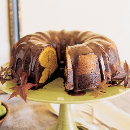 Chocolate-Pumpkin Marble Cake