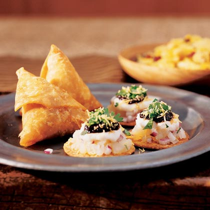 Potato-Chutney Crisps (Sev-puri)Recipe