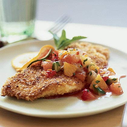 Nut-Crusted Sole with Citrus Salsa Recipe