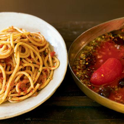 Roasted Tomato Spaghetti Recipe