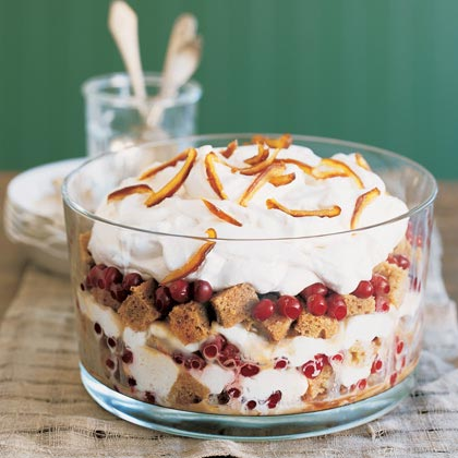 Sticky Toffee Trifle with Cranberries