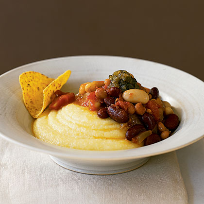 Vegetable Chili with Polenta Recipe
