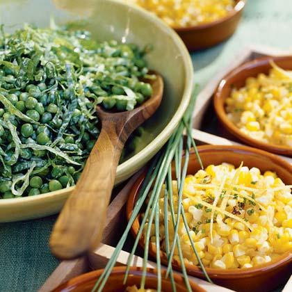 Petite Peas with Greens