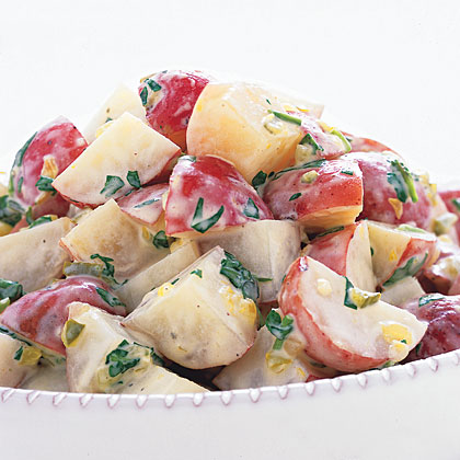A jar of coleslaw dressing is the secret ingredient in this super-easy potato salad.Dijon Potato Salad Recipe