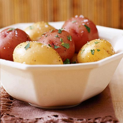 Why do you start boiling potatoes in cold water ?