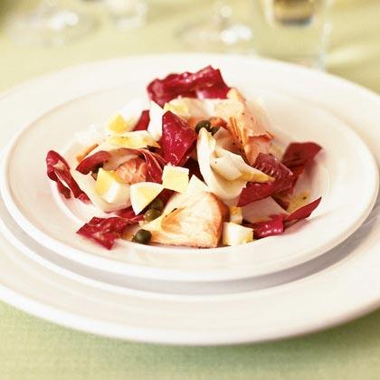 Chopped Endive Salad with Smoked SalmonRecipe