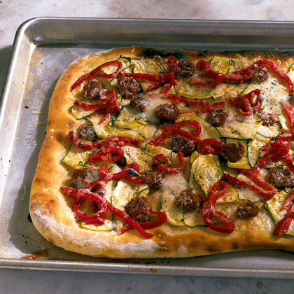 Sausage, Zucchini, and Pepper Pizza