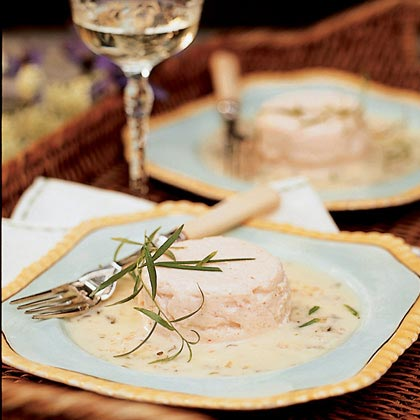 Seafood Timbales with Tarragon Beurre Blanc