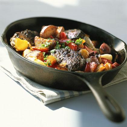 Sizzling Steak with Roasted VegetablesRecipe