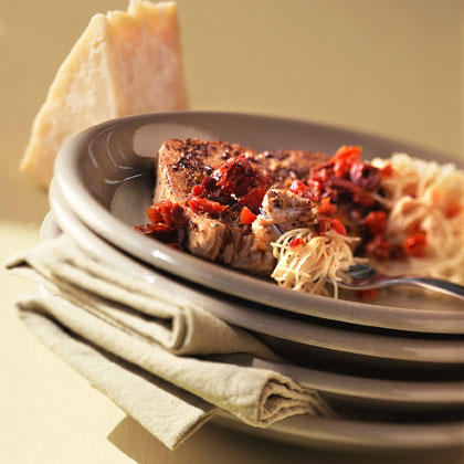 Spiced Tuna with Mediterranean Wine Sauce Recipe
