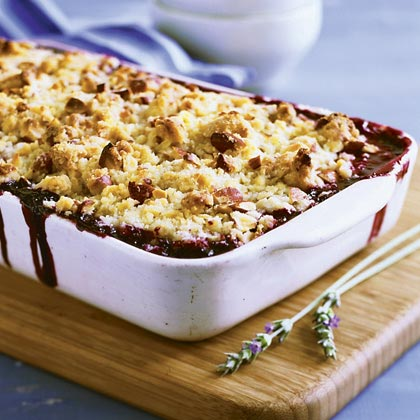 Lavender Berry Crisp