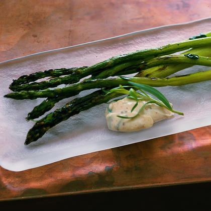 Grilled Asparagus with Orange Dipping Sauce Recipe