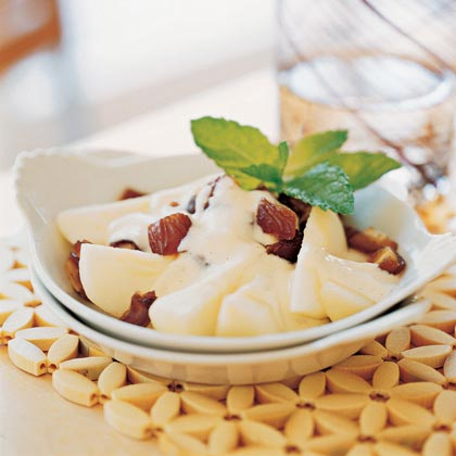 Pears and Dates with Vanilla-Orange Yogurt