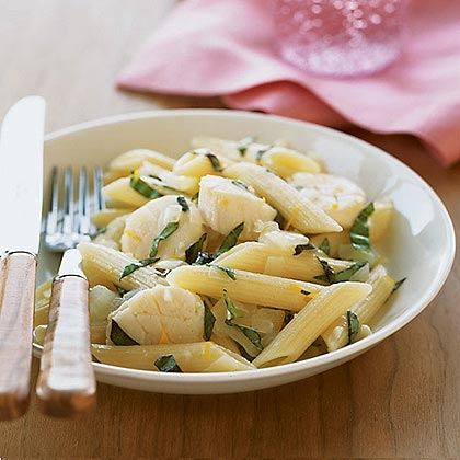 Pasta with Scallops and Lemon
