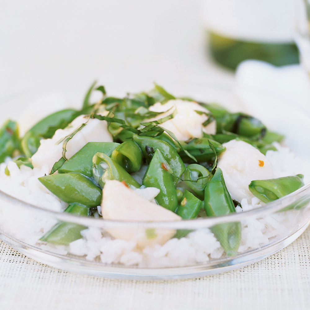 Scallop and Sugar Snap Pea Stir-Fry Recipe