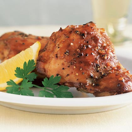 Lemon-Garlic Chicken Thighs