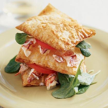 Lobster Salad Napoleons Recipe