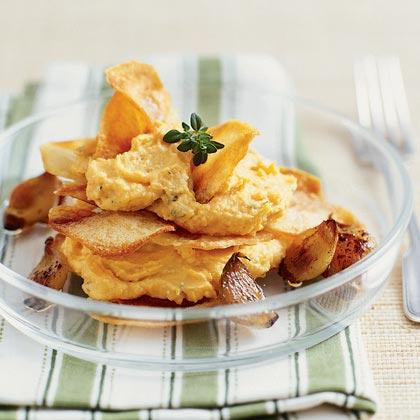 Sweet Potato-Chèvre Napoleons