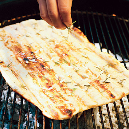 As long as you're grilling, you might as well grill some yummy bread to add to the menu.Rosemary Flatbread Recipe