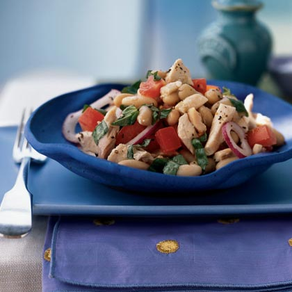 <p>White Bean and Roasted Chicken Salad</p>
