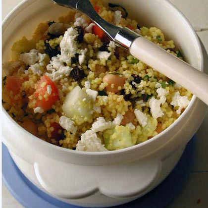 Couscous-Chickpea Salad with Ginger-Lime Dressing Recipe