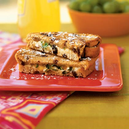 Grilled Goat Cheese Sandwiches with Fig and Honey