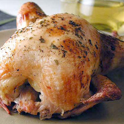 Lemon Tarragon-Brined Whole Chicken