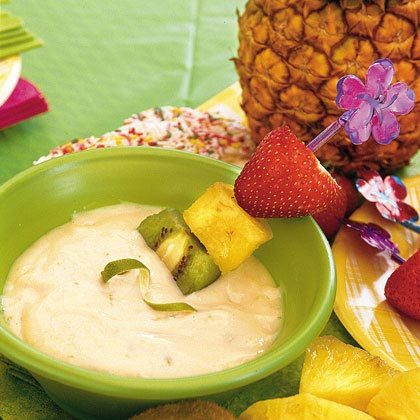 Serve this tart dip with fresh fruit for a healthy snack or with sugar cookies for an easy dessert.Pink Lemonade-Lime Dip Recipe