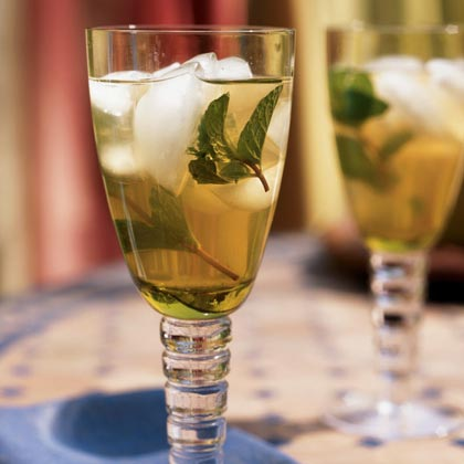 Make a large pitcher of green tea steeped with mint and sip on it through the day. Recent studies have found that including mint in your diet on a regular basis can help protect the body from certain types of infections because it slows down the growth of bacteria and fungus.Recipe: Iced Mint Tea