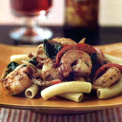 Nutty Pasta Toss with Shrimp