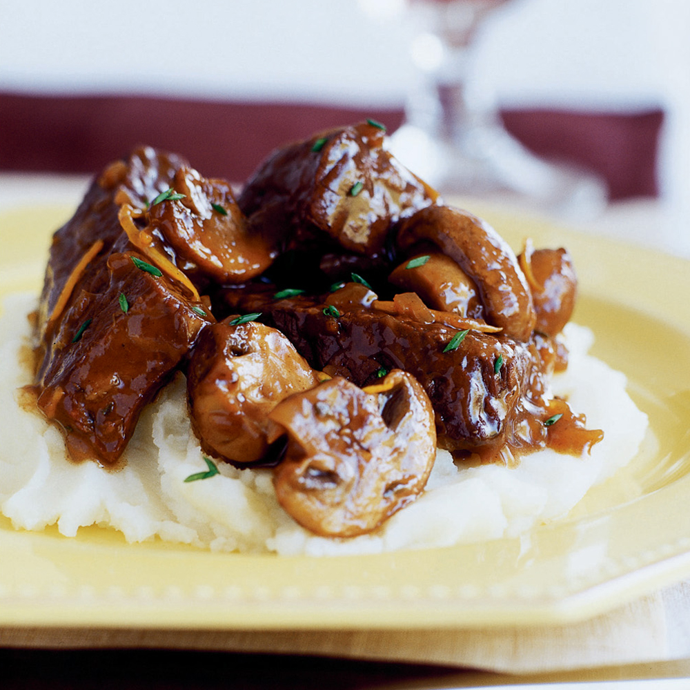 Slow-braised Beef Stew With Mushrooms Recipe