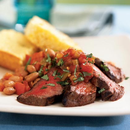 <p>Southwestern Steak and Pinto Beans</p>