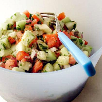 Tomato and cucumber salad recipes