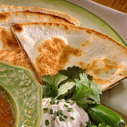 Refried Bean-and-Corn Quesadillas