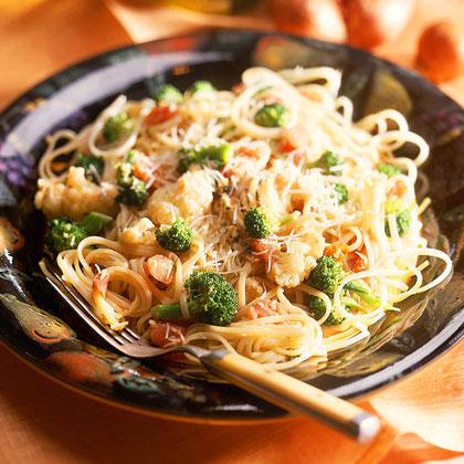 Pasta with Broccoli and Cauliflower in Mustard SauceRecipe