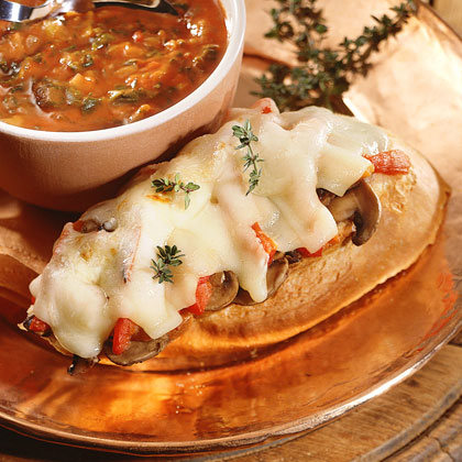 Mushroom-and-Roasted Pepper Sandwich