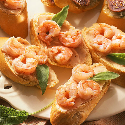 White Bean-and-Shrimp Crostini Recipe | MyRecipes.com
