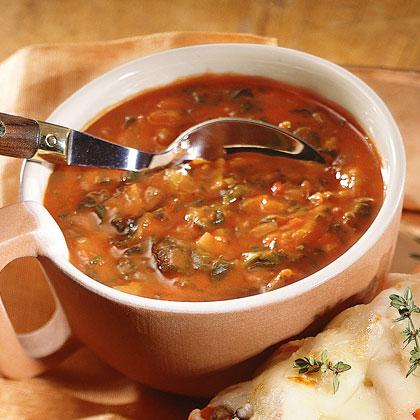 Tomato-Spinach Soup