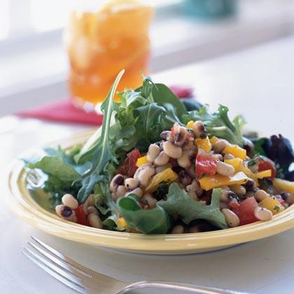 Field Greens with Mississippi Caviar Recipe