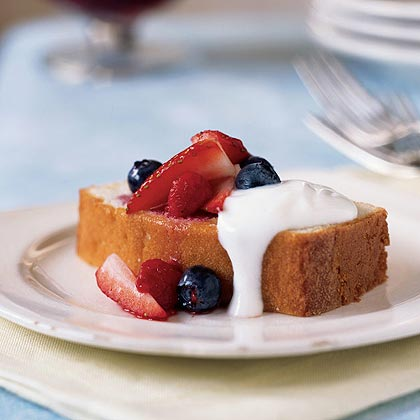 Lemon Pound Cake with Mixed Berries