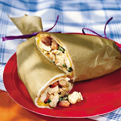 Chicken-and-Black Bean Slaw Wraps
