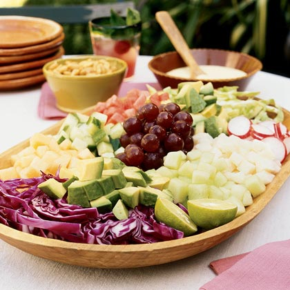 Mexican Chopped Salad with Orange CremaRecipe