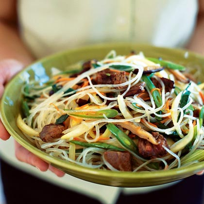 Korean Clear Noodles with Mixed Vegetables